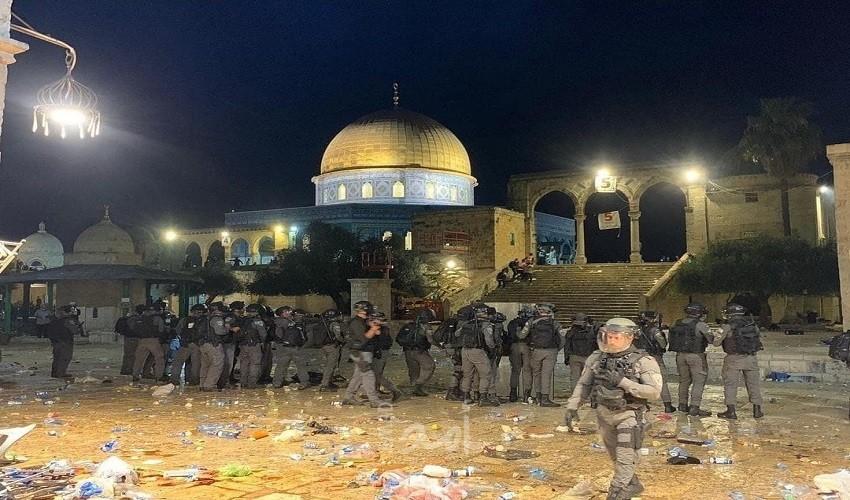 مواجهات القدس المحتلّة: 178 إصابة في الأقصى وباب العامود والشيخ جراح ... فيديو - صور