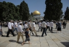 """مجموعة من المستوطنين يقتحمون المسجد  """"الأقصى"""" بحراسة قوات الاحتلال"""