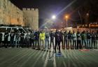 القدس: قوات الاحتلال تقمع المشاركين بصلاة المغرب في المقبرة اليوسفية وتعتقل شابًا