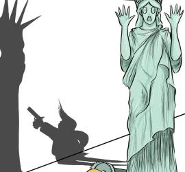 كاركاتير: اغتيال الحرية !!