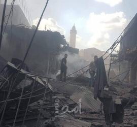 مركز حقوقي: انفجار سوق الزاوية بغزة ناتج عن انفجار مواد متفجرة لأحد الفصائل