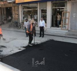 بلدية حماس تنجز صيانة شارع الفواخير في حد الدرج وسط غزة - صور