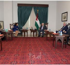 الرئيس محمود عباس يستقبل وزيرة الخارجية السويدية