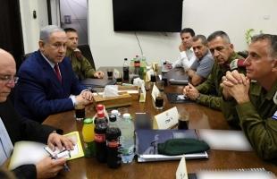 """اعلام عبري: """"الثلاثاء"""" اجتماع للكابينيت لمناقشة التهدئة مع غزة"""