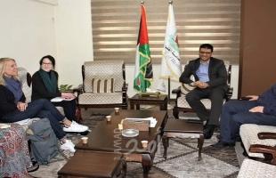 """صحة غزة تطلع رئيسة بعثة أطباء بلاحدود بلجيكا على جهود مواجهة جائحة """"كورونا"""""""