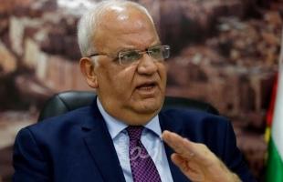 """عريقات لـ قناة عبرية: لن نسمح بالمس بالنظام العام والفوضى وسلطة القانون بعد """"التحلل من الاتفاقات"""""""