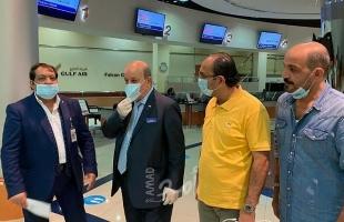 السفير عارف يغادر البحرين إلى فلسطين - صور