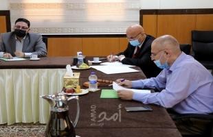 قضاء حماس يناقش مع النيابة العامة تسيير العمل خلال فترة المعايشة مع جائحة كورونا