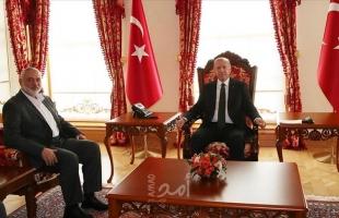 هنية: سأناقش مع أردوغان ترسيم الحدود البحرية بن تركيا وفلسطين