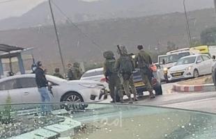 """محدث2- قوات الاحتلال تطلق النار تجاه """"فلسطيني"""" قرب حاجز حوارة جنوب نابلس ..فيديو وصور"""