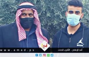 """كاميرا """"أمد"""" ترافق الأسير محمد النباهين الذي خرج من سجون الاحتلال حرا"""