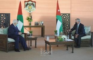 الملك عبد الله يدعو لتكثيف الجهود لإنهاء الصراع  على أساس حل الدولتين