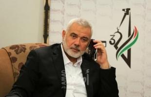 """هنية يجري اتصالاً هاتفياً مع وزير خارجية حكومة """"طالبان"""""""
