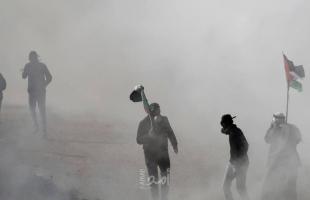 نابلس: إصابات بالاختناق خلال مواجهات بين قوات الاحتلال وطلبة مدارس في بورين