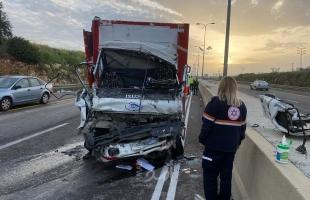 وفاة مواطن وإصابات بحادث سير بين مركبة فلسطينية وأخرى إسرائيلية بالضفة
