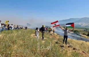 تظاهرات لبنانية على الحدود الفلسطينية والجيش الإسرائيلي يطلق النار التحذيري - فيديو