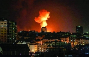 طائرات الاحتلال الحربية تقصف عدة أهداف شمال وجنوب قطاع غزة