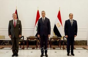 الكاظمي يودع السيسي والعاهل الأردني ويعلن الاتفاق على تفعيل المشاريع التنموية