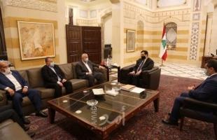 هنية يلتقي رئيس حكومة تصريف الأعمال اللبنانية حسان دياب