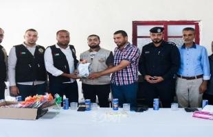 شباب الأمة يُكرم رجال الأمن في معبر كرم أبو سالم بمناسبة يوم الشرطة الفلسطينية