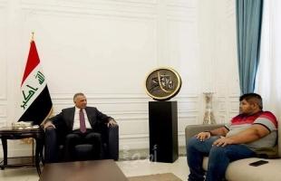 """في لقاء """"غير معلب"""".. الكاظمي يستقبل اليوتيوبر الساخر من رؤساء أمريكا - فيديو"""
