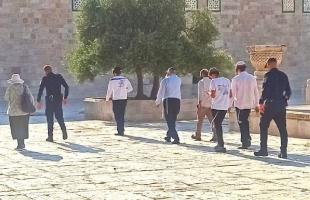 """عشرات المستوطنون يقتحمون ساحات """"الأقصى"""" بحراسةٍ مشددة- فيديو"""