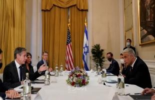 لابيد يلتقي بلينكن ووزير خارجية الإمارات في واشنطن
