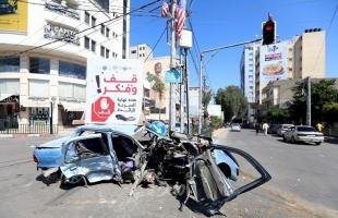 مرور غزة: (21) إصابة في 41 حادث سير الأسبوع الماضي بقطاع غزة