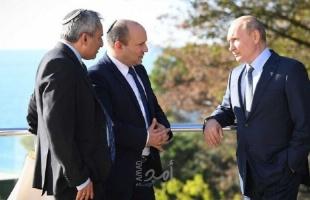 وزير إسرائيلي حضر قمة سوتشي يكشف فحوى محادثات بوتين وبينيت بشأن سوريا