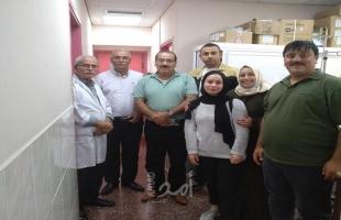 وفد من النضال الشعبي يزور قسم الأورام في المستشفى الوطني بنابلس