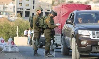 قوات الاحتلال تنصب حاجزا جنوب بيت لحم
