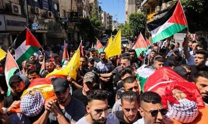 الضفة تشيع  (4) شهداء سقطوا بالهبة الشعبية - صور
