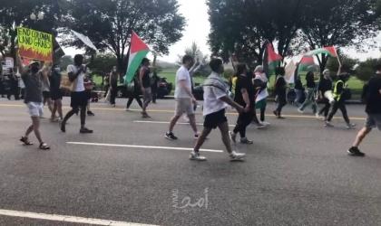 واشنطن: تظاهرة أمام البيت الأبيض تنديدًا بزيارة بينيت..ومؤسسات تطالب بايدن بتبني مطالب فلسطينية