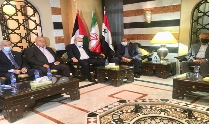 وزير الخارجية الإيراني يلتقي قادة الفصائل الفلسطينية في دمشق