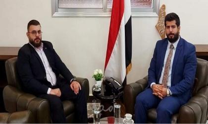 دمشق: الهرش والحيمي يؤكدان على دعم الحركة الأسيرة في فلسطين