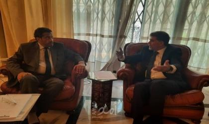 السفير عبد الهادي يبحث مع سفير ليبيا آخر مستجدات القضية الفلسطينية