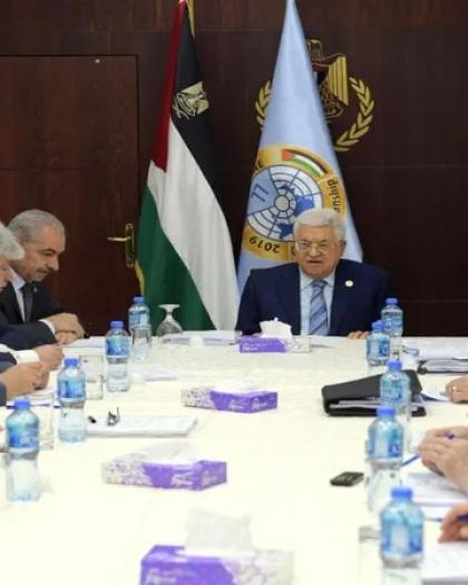 """تنفيذية المنظمة تؤكد الإلتزام بقرار """"الحل من الإتفاقيات والتفاهمات التي وقعتها مع إسرائيل وأمريكا"""" وماترتب عليها"""