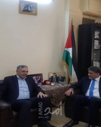 رئيس لجنة المصالحة السورية يزور مقر الدائرة السياسية بدمشق
