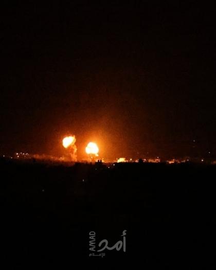 جيش الاحتلال يقصف أهدافا في قطاع غزة ردًا على إطلاق البالونات الحارقة - صورة وفيديو